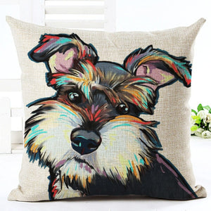 throw pillow cover dog decor schnauzer