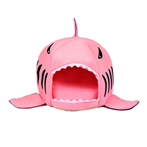 shark shaped doghouse pink