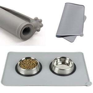 Silicone waterproof placemat for dog dishes