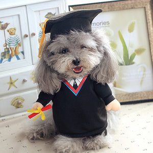 Cap Gown Graduate Costume 3g For Dogs