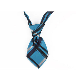 blue and black neck tie for dog