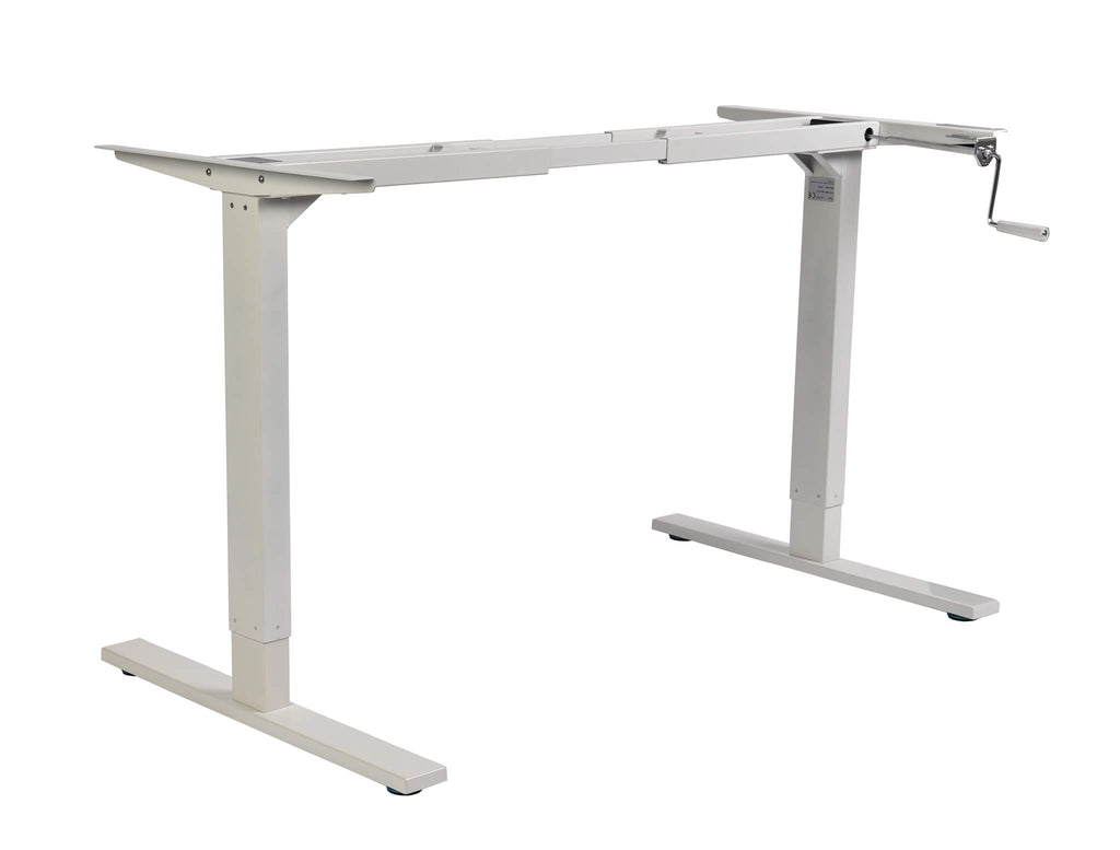 Evolve manual height adjustable standing desk frame
