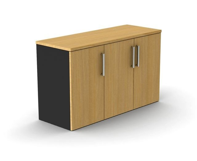 Credenza 1200mm w Beech and Ironstone