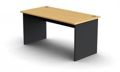 Office Desk Beech and Ironstone