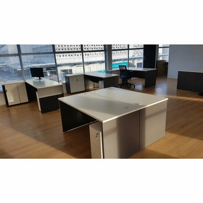 Milan Office Desk and Storage Combo Desk Workstation