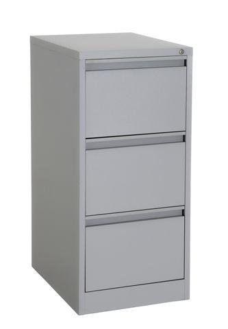 Grey 3 drawer filing cabinet