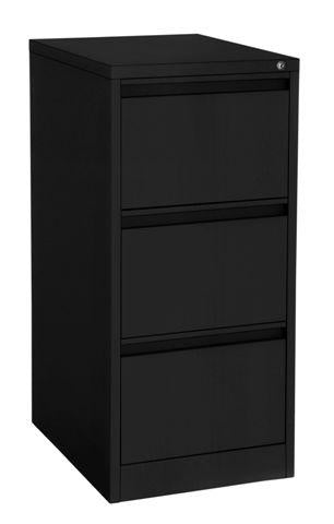 Matt Black 3 drawer filing cabinet