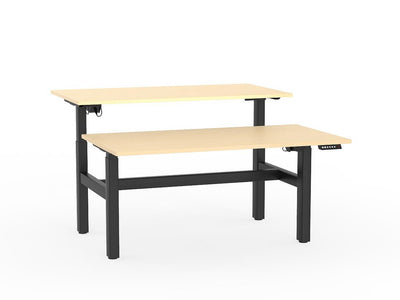 double sided electric height adjustable standing desk