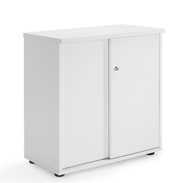 Sliding Door Cupboard White