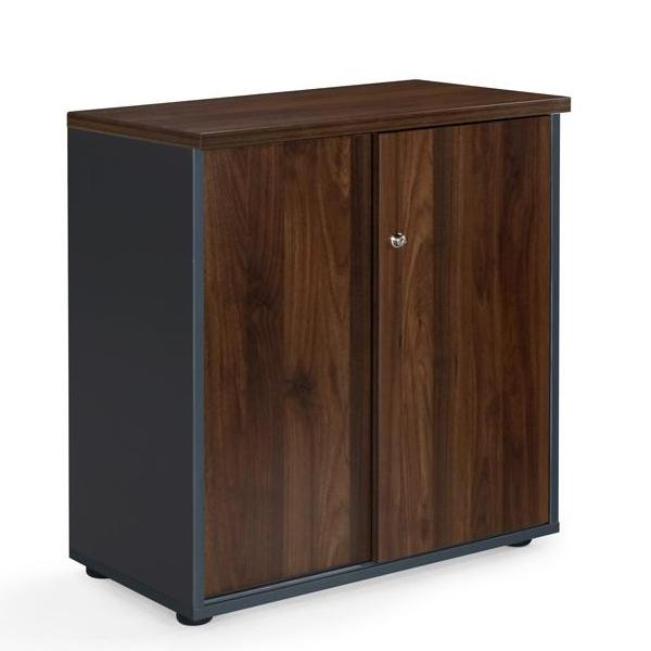 Milan Cupboard Dark Oak/Dark Grey