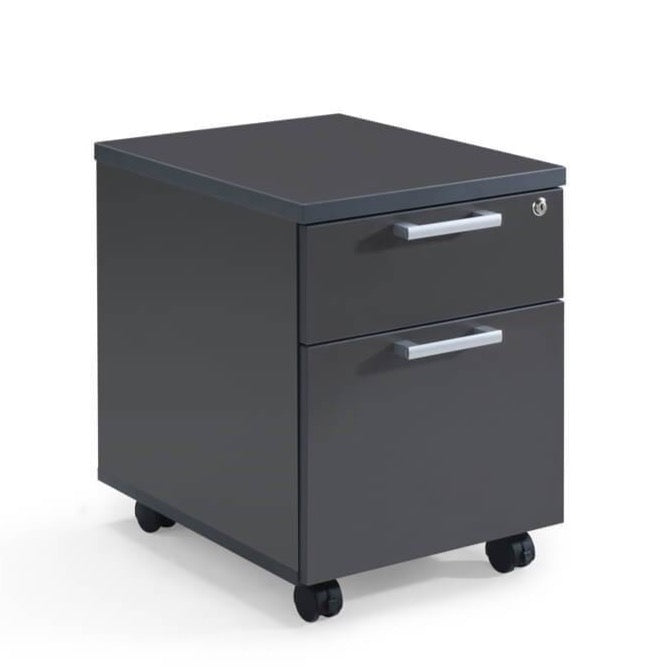 Milan Dark Grey Mobile Filing Cabinet