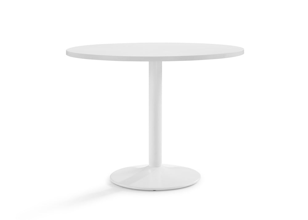 Ultimo Meeting Table 1000 mm Diameter White