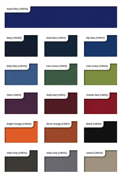 Breath Fabric Colour Options