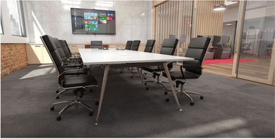 Team 2400 x 1200 Boat Shaped Boardroom Table