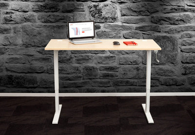 Standing Desk Manual Winder White