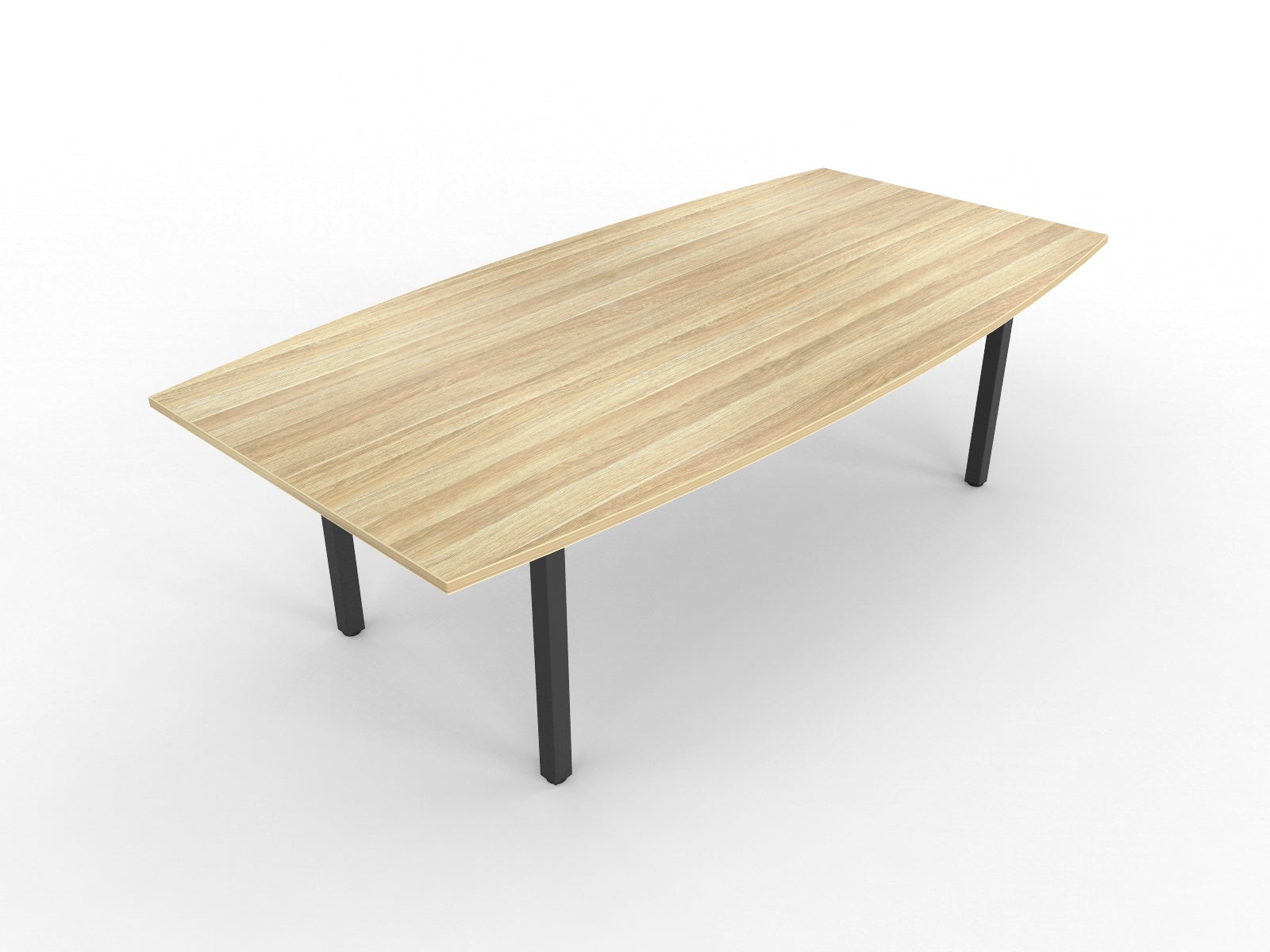 Cubit 2400 x 1200 Boat Shaped Boardroom Table
