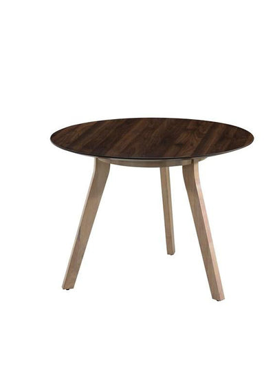 Copenhagen Round Dark Oak Meeting Table