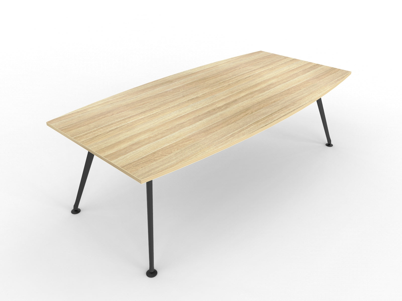 Team 2400 x 1200 Boardroom Table Atlantic Oak Top Black Legs