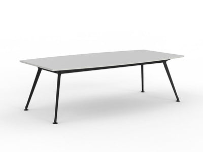 Team 2400 x 1200 Boardroom Table White Top Black Legs