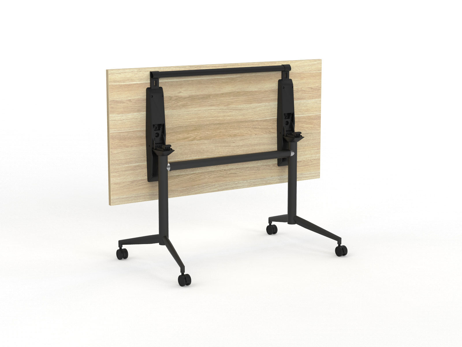 Team flip table Atlantic Oak Black Legs Flipped