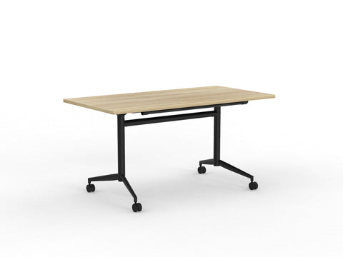 Team flip table Atlantic Oak Black Legs