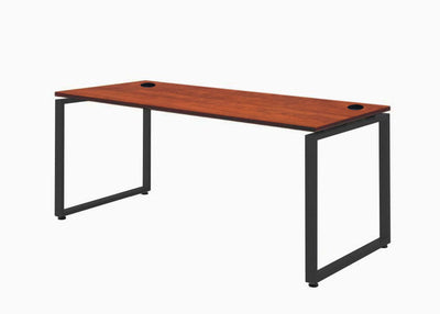 Metal Leg office Desk Cherry Desktop Black Clsoed Leg