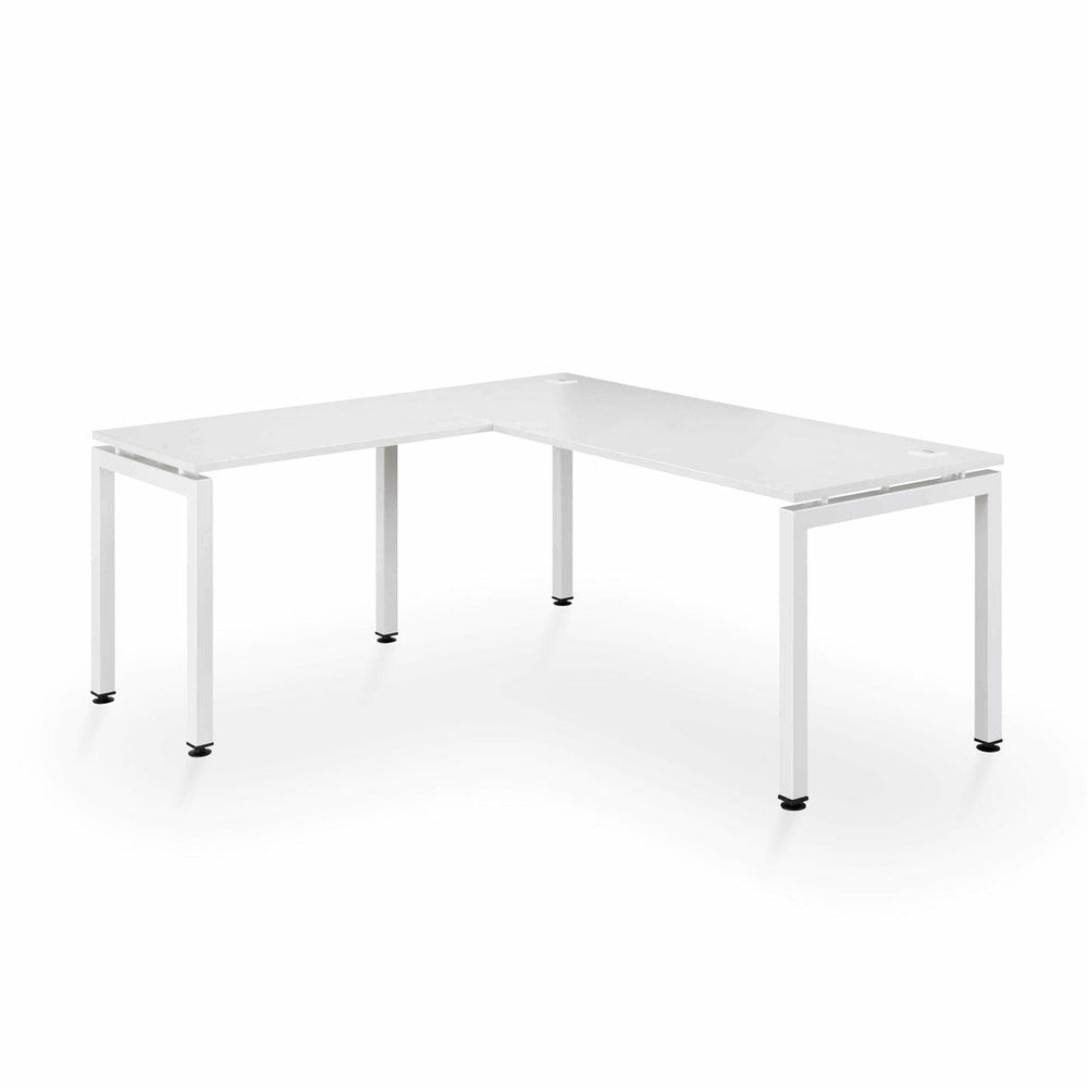 Corner Desk White 1800 x 1600 workstation