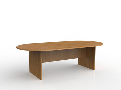 Ergoplan 2400 x 1200 Oval Boardroom Table