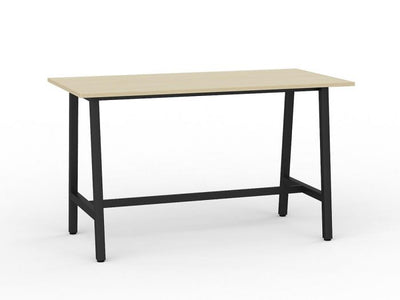 Bar Leaner Black Metal Frame Nordic Maple Top