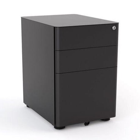 Metal Mobile Drawers Under desk Black