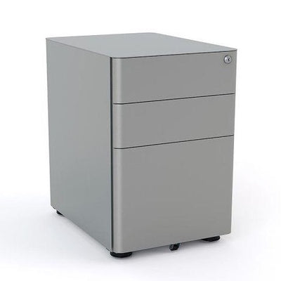 Metal Mobile Drawers Under desk Silver