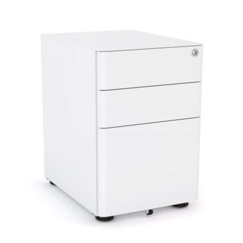 Metal Mobile Drawers Under desk White