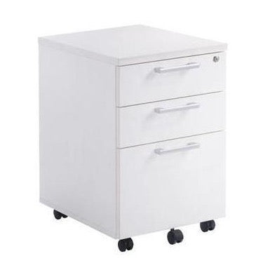 White Under Desk Mobile File Drawer