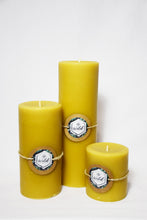 "100% Pure Beeswax 9"" Pillar"
