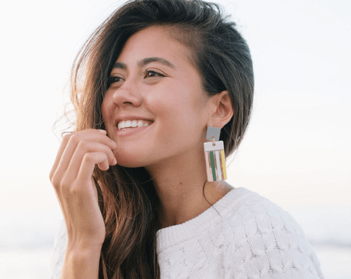 Metallic Comb Earrings