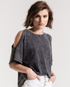 The Washed Cotton Cold Shoulder Tee