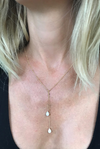 Floating Lariat Mystic Moonstone Necklace