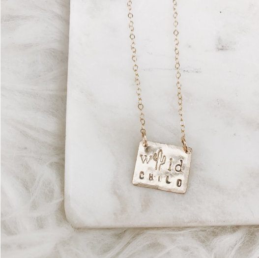 'Wild Child' Stamped Necklace