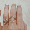 3 MOP Stack Ring