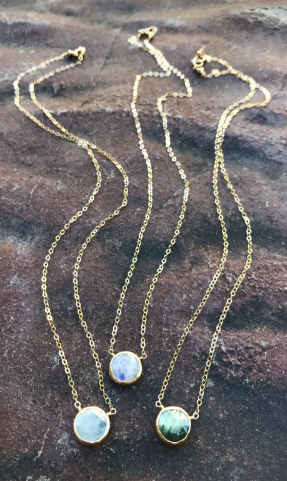 Circle Bezel Gold/Silver Necklace