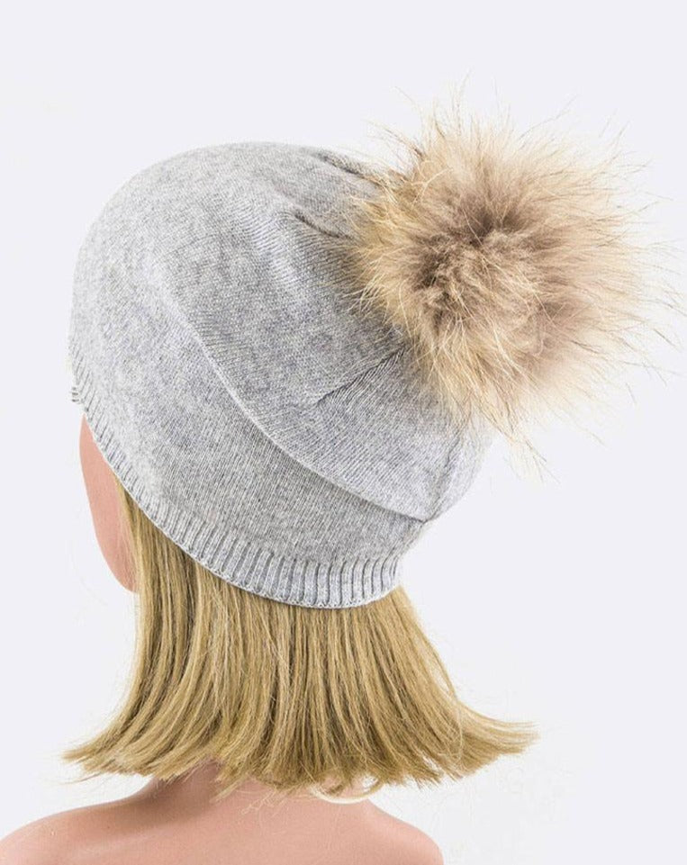 Cashmere Slouch Beanie