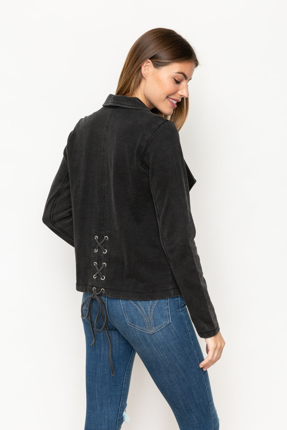 Ash Wash Lace Up Back Jacket