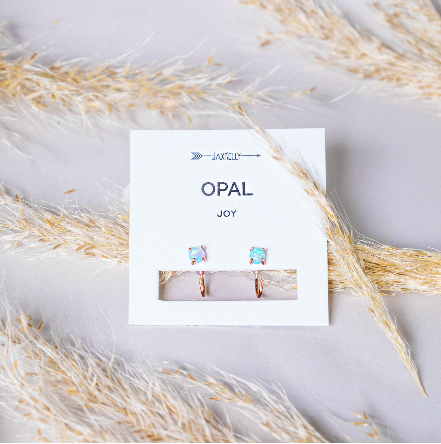 Clear Quartz Prong Earrings