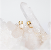 White Druzy Prong Earrings