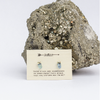 Peacock Druzy Cluster Earrings