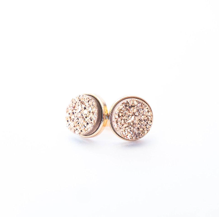 Rose Gold Druzy Clusters