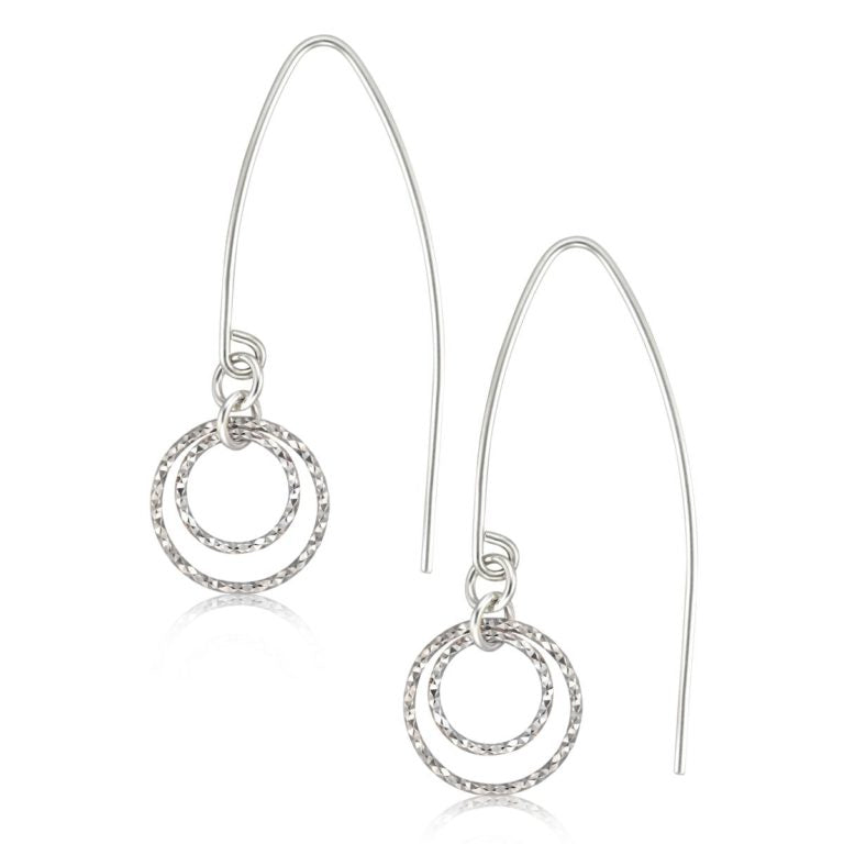 Brie - Sterling Silver Faceted Earrings