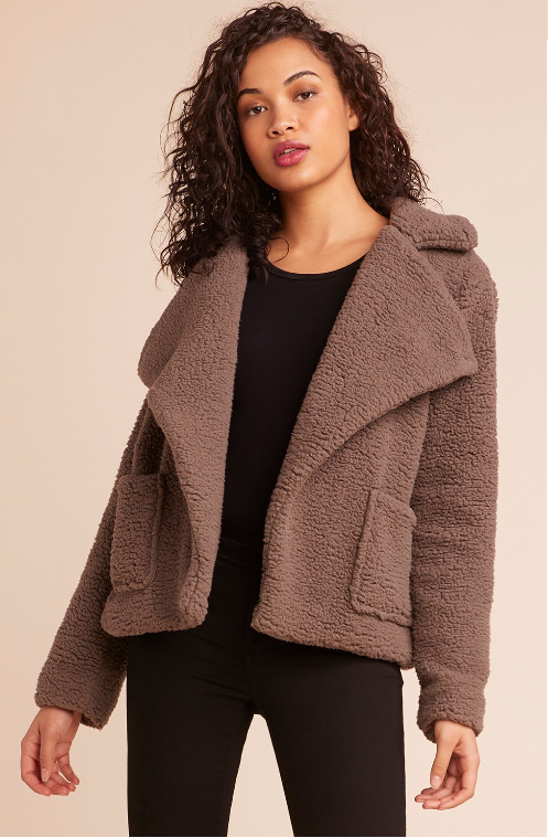 Speak Now Sherpa Jacket in Walnut