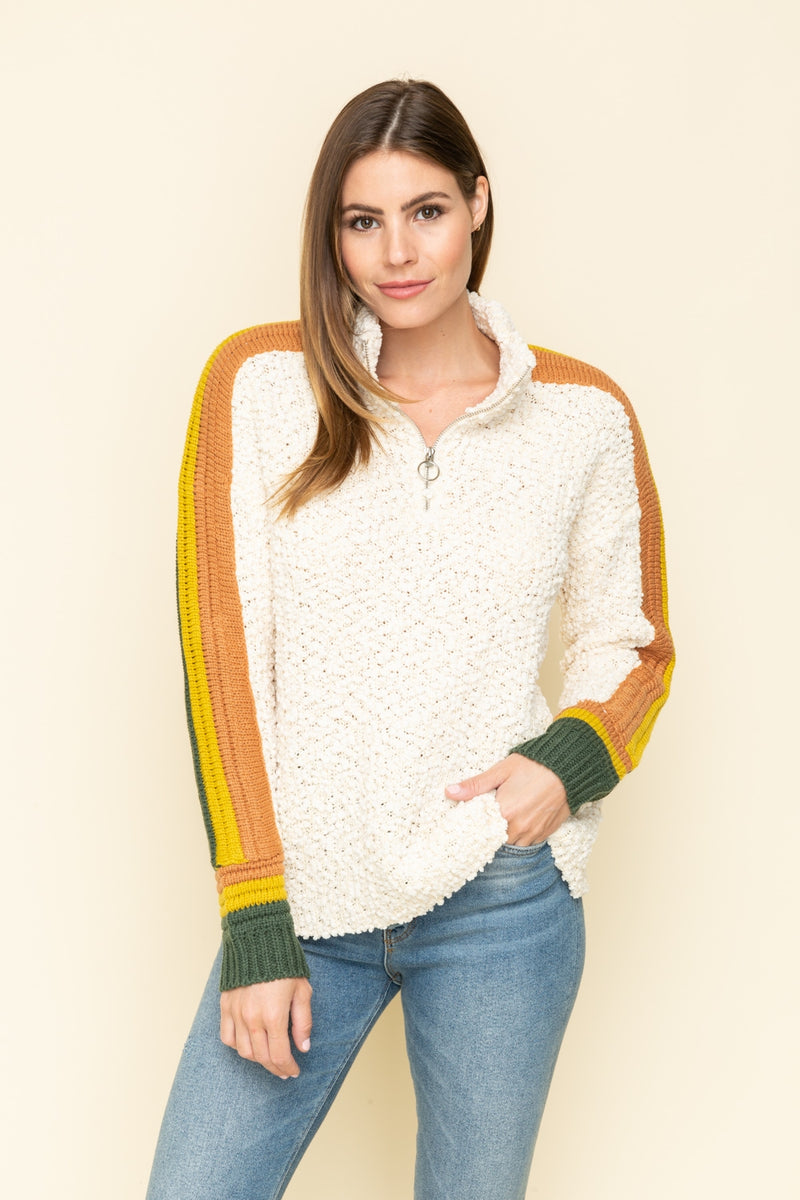 Color Striped Sweater Pullover