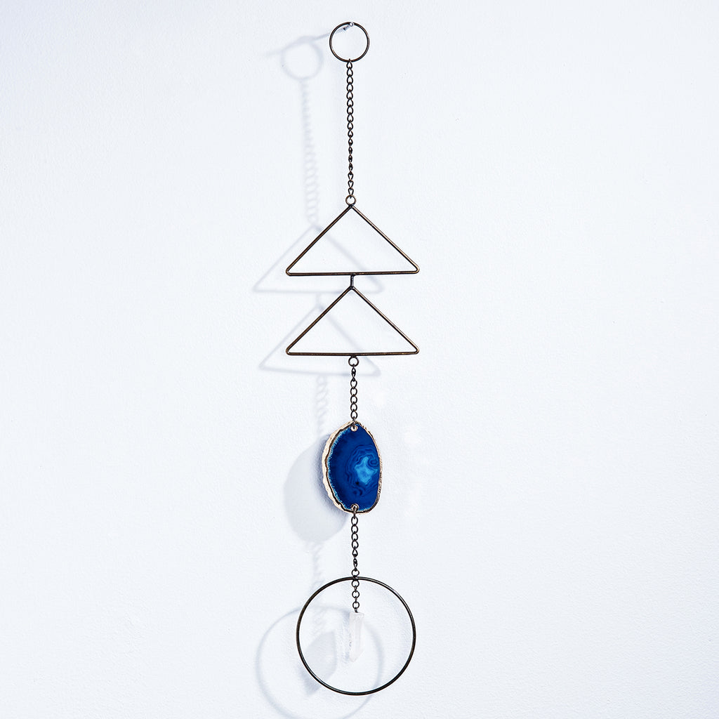 Blue Agate Crystal Wall Hanging
